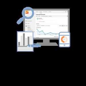 Bildschirm mit Google Analytics