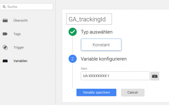 GA_trackingId im Tagmanager