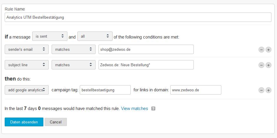 Screenshot: Rule-Mandril-Analytics-Bestätigung