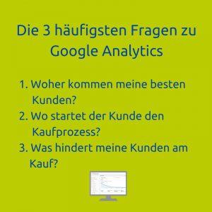 Google Analytics Seminar Fragen