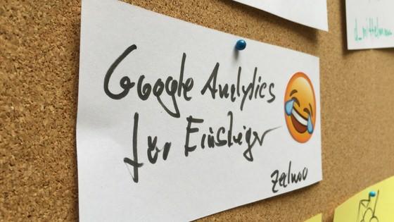 """Session """"Goolge Analytics für Einsteiger"""" bei der Barcamp-Session-Planung"""