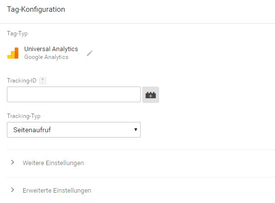 Tag-Konfiguration im Google Tag Manager