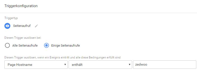 Trigger-Konfiguration im Google Tag Manager