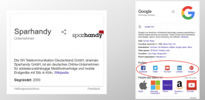 Knowledge Panel von Google