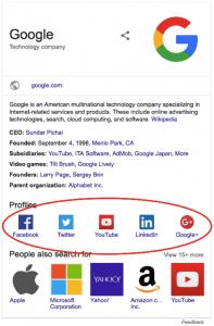 Knowledge Panel von Google