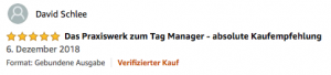 Google Tag Manager Buch Zitat