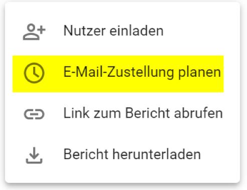 Google Data Studio: Berichte regelmäßig automatisch als PDF verschicken
