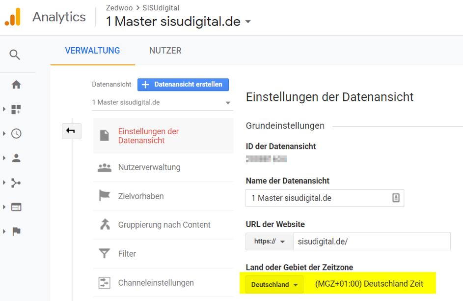 Google Analytics Tipp: Die korrekte Uhrzeit einstellen