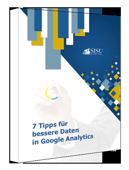 E-Book 7 Tipps für bessere Daten in Google Analytics |Cover