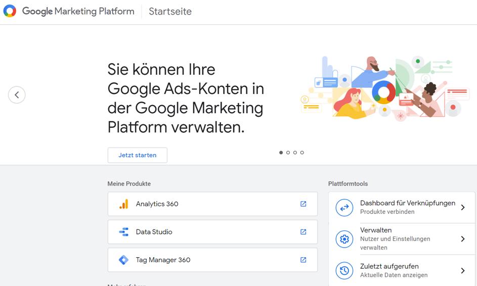 Google Analytics Tipps 14: Organisation für Google-Produkte erstellen  Schritt 2