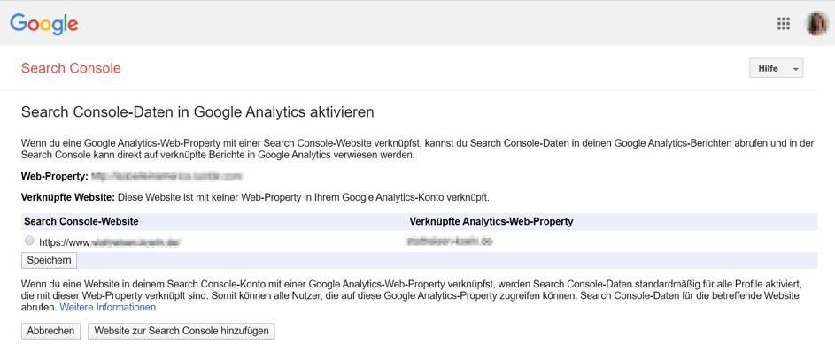Google Search Console mit Google Analytics verbinden:  Schritt 3