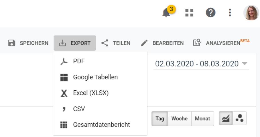 Google Analytics Tipp: Eigene, benutzerdefinierte Berichte anlegen und verwenden – Schritt 3