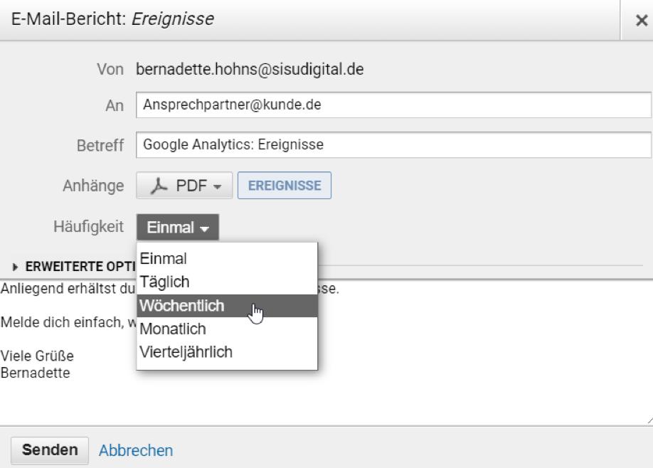 Google Analytics Tipp: Eigene, benutzerdefinierte Berichte anlegen und verwenden – Schritt 4