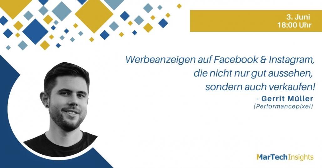MarTech Insights Webinar mit Gerrit Müller: Werbeanzeigen auf Facebook und Instagram