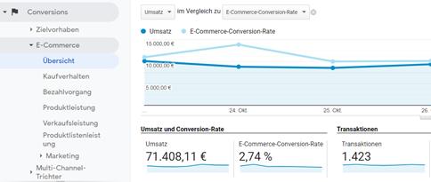 Screenshot zu Google Analytics: Doppelte Transaktionen aufspüren